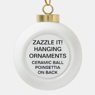 Custom Personalized POINSETTIA Ball Ornament Blank