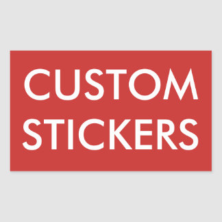Custom Personalized Rectangular Stickers Blank
