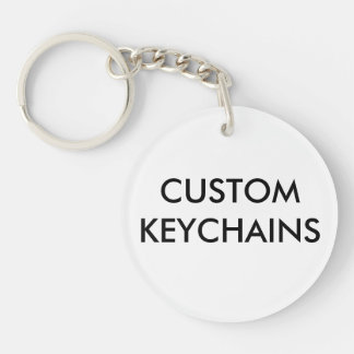 Custom Personalized Round Keychain Blank Template