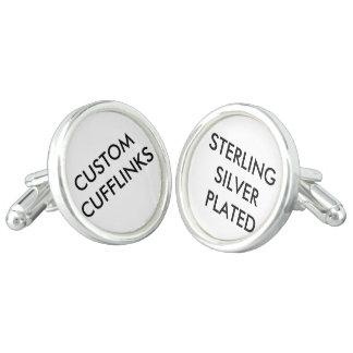 Custom Personalized Silver Plated Cufflinks Blank