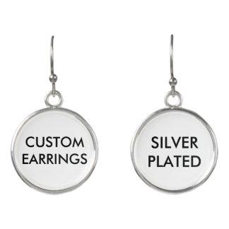 Custom Personalized Silver Plated Earrings Blank