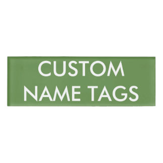 Custom Personalized Small Name Tag Blank Template
