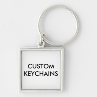 Custom Personalized Square Keychain Blank Template