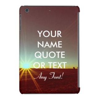Custom Personalized Sunrise Sundown Design iPad Mini Retina Cover