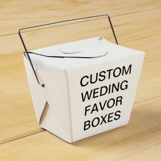 Custom Personalized Take Out Wedding Favor Boxes