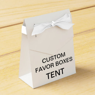Custom Personalized Tent Favor Boxes Blank (White)
