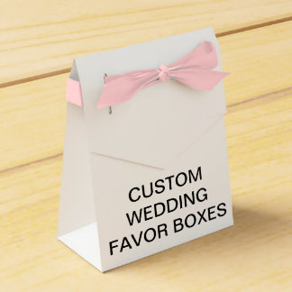 Custom Personalized Tent Wedding Favor Boxes