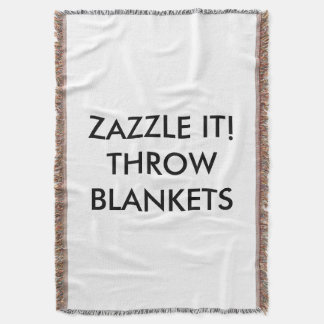 Custom Personalized Throw Blanket Blank Template