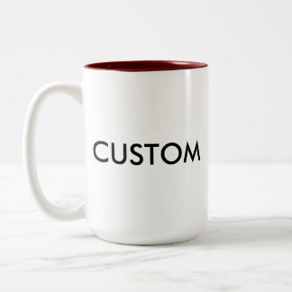 Custom Personalized Two-Tone Mug Blank Template