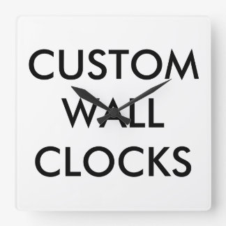 Custom Personalized Wall Clock Blank Template