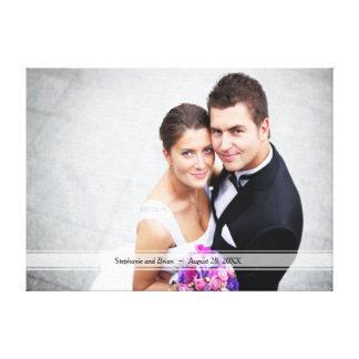 Custom Personalized Wedding Bridal Portrait Canvas Prints