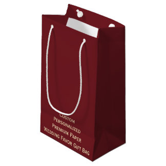 Custom Personalized Wedding Favor Paper Gift Bag