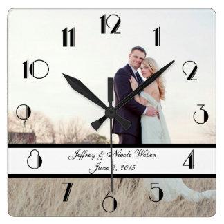 custom personalized wedding gift wall clock