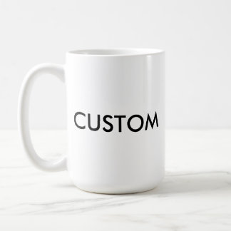 Custom Personalized White Mug Blank Template
