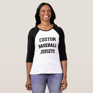 Custom Personalized Womens Raglan Baseball Jersey T-Shirt