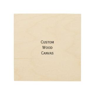 Custom Personalized Wood Wall Art Photo Canvas