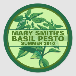 Custom Pesto Labels, Basil Pesto Jarring Labels