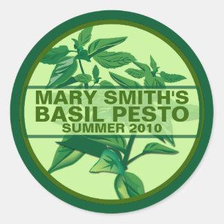 Custom Pesto Labels Basil Pesto Jarring Labels Stickers
