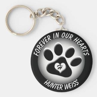 Custom Pet Memorial Basic Round Button Key Ring