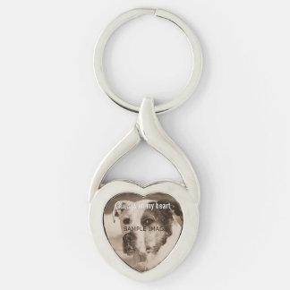 Custom Pet Memorial Photo Always in My Heart Key Ring