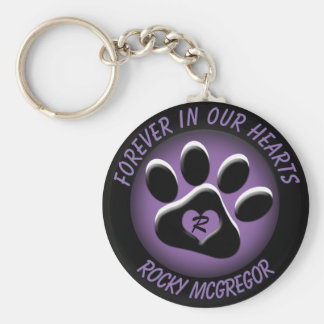 Custom Pet Memorial with Changeable Colors Basic Round Button Key Ring