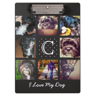 Custom Pet Photo Collage Clipboard