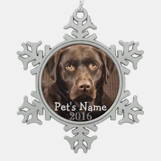 Custom Pet Photo Keepsake 2016 Holiday Ornaments