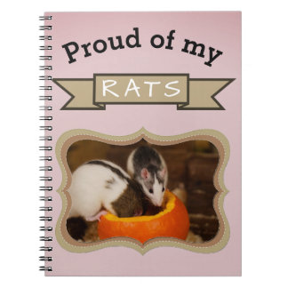 Custom Pet Rat Photo Notebook