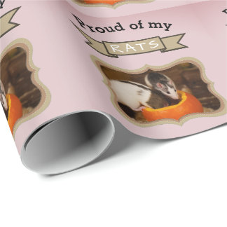 Custom Pet Rat Photo Wrapping Paper