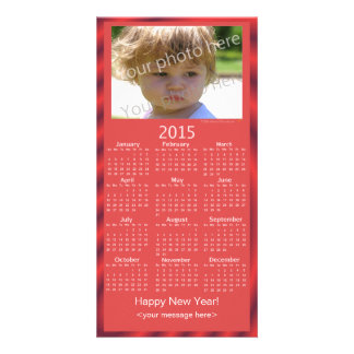 Custom Photo 2015 Calendar Card Happy New Year Personalised Photo Card