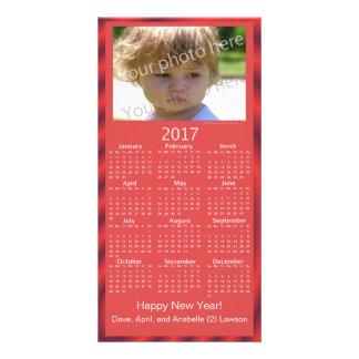 Custom Photo 2017 Calendar Card Happy New Year Customized Photo Card