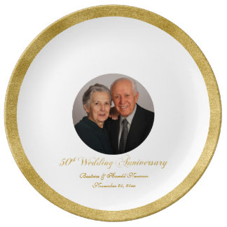 Custom Photo 50th Anniversary Guest Signing Plate