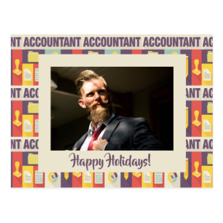 Custom Photo Accountant Happy Holidays Postcard