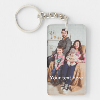 Custom Photo and/or Text Key Ring