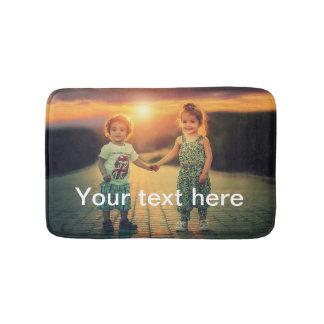 Custom Photo and Text Bath Mat