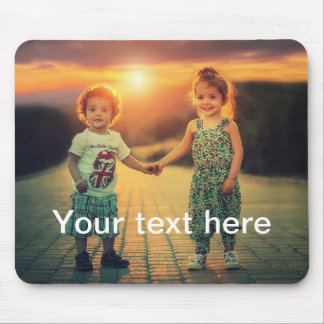 Custom Photo and Text Mouse Pad