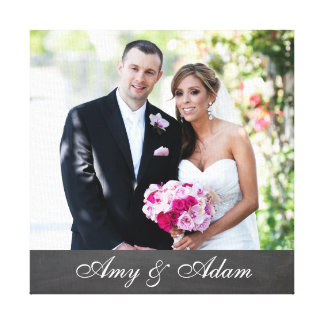 Custom photo and text newly weds | married couple gallery wrap canvas