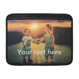 Custom Photo and Text Sleeve For MacBook Air