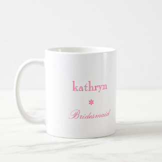 Custom photo argyle preppy bridesmaid coffee mug