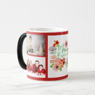 Custom Photo Best Mum Ever Red Morphing Mug