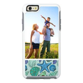 Custom Photo Blue Seashells & Starfish Pattern OtterBox iPhone 6/6s Plus Case