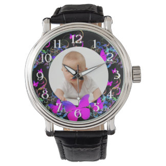 Custom photo/ Butterfly frame Wrist Watches