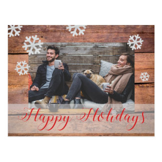 Custom Photo Christmas Postcard