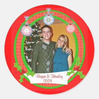 Custom Photo Christmas Stickers