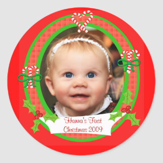 Custom Photo Christmas Stickers