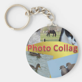 Custom Photo collage Key Ring