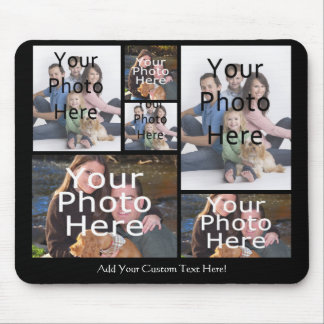 Custom Photo Collage Mousepad Add your 6 Photos