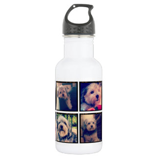 Custom Photo Collage with Square Photos 532 Ml Water Bottle
