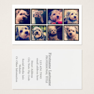 Custom Photo Collage with Square Photos Business Card