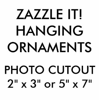 Custom Photo Cutout Christmas Hanging Ornament